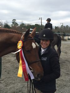 Mariah Friedland and Alamo Reserve Champion in the A/O Hunter in Alpharetta, GA