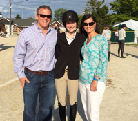 The Smith Family at The Devon Horse Show