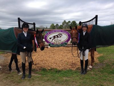 Quinn Larimer and Stella Martin with their horses Zazou and Nekton