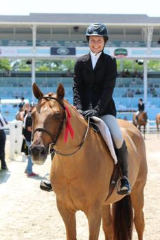Zazou and Quinn Larimer at The Devon Horse Show